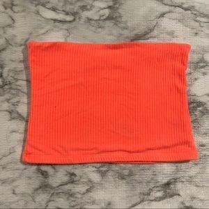 Lf neon orange tube top
